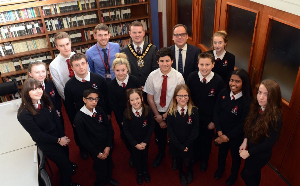 Mayor with Student Council